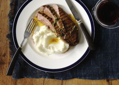"""Recipe:&nbsp;<a href=""""http://kitchen.nine.com.au/2016/05/17/11/49/marinated-flank-beef-steaks-with-mash"""" target=""""_top"""" draggable=""""false"""">Marinated flank beef steaks with mash</a>"""