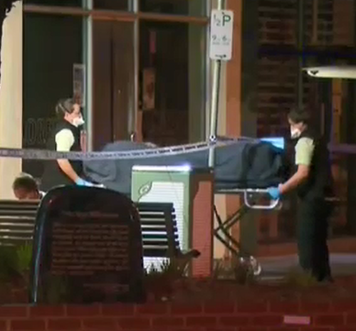 The body was removed just before 6am. (9NEWS)