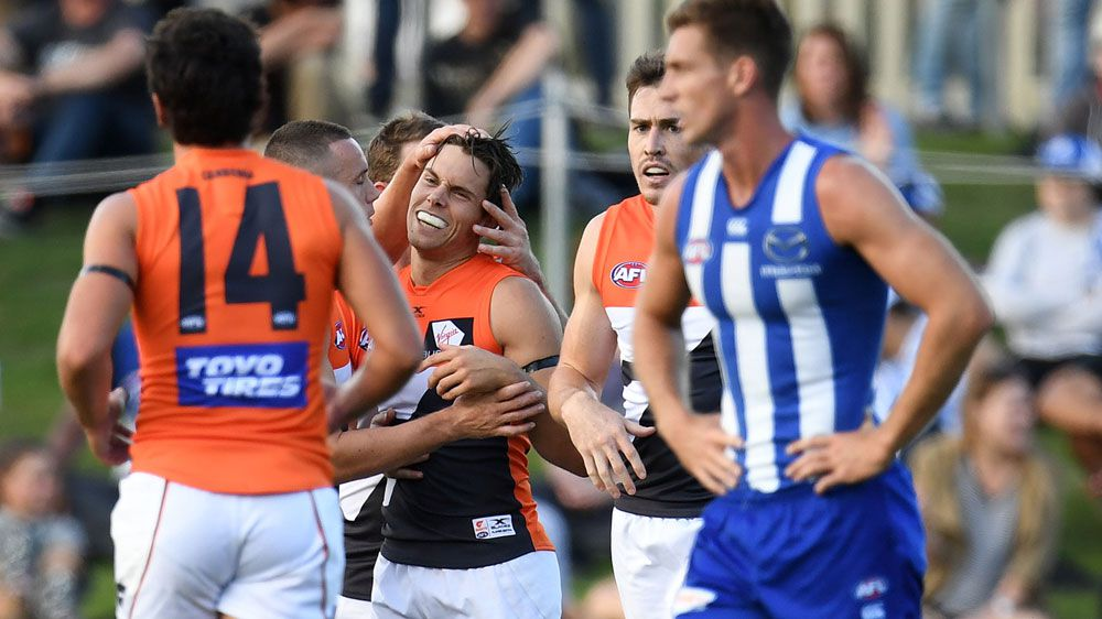 GWS star Josh Kelly shines in Giants win over North Melbourne Kangaroos