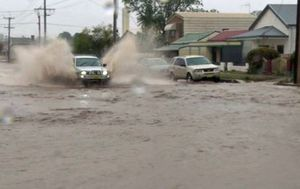 Broken Hill inundated with a month's worth of rain in just 15 minutes