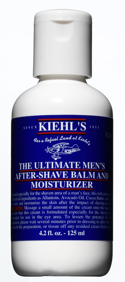 "<a href=""http://www.kiehls.com.au/men/by-category/moisturizers"" target=""_blank"">Kiehl's Ultimate Men's aftershave moisturiser, $28.</a>"