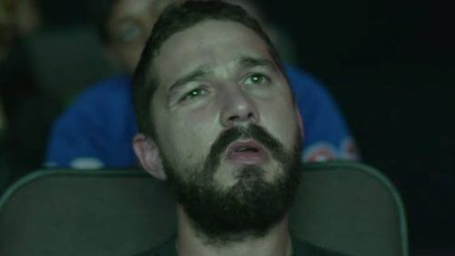 LaBeouf's 'I don't remember this part face'. (Twitter)