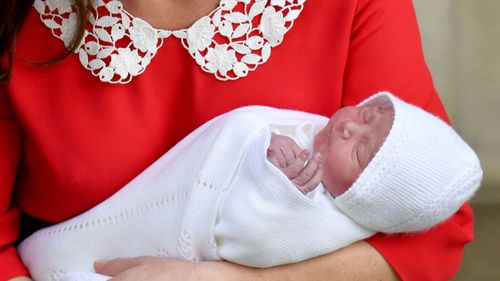 The new prince has weighed in at eight pounds seven ounces. (PA/AAP)