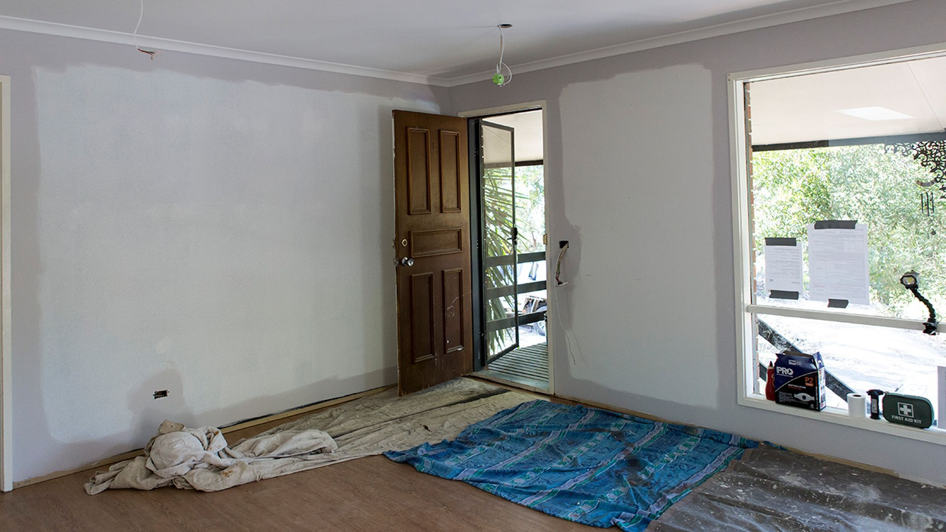 Living and entry - During