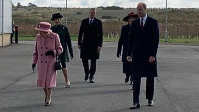 Queen Elizabeth and Prince William at Defence Science and Technology Laboratory (Dstl), Porton Down