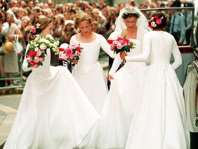 Zara serves as a bridesmaid again, 1994