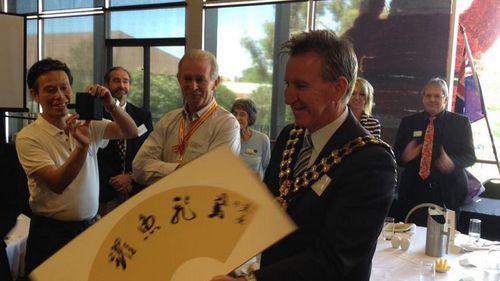 Albury City Mayor Kevin Mack. (Supplied, Albury City Twitter)