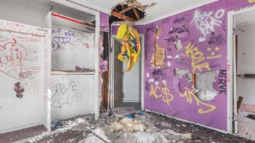 The Marsden property is in such poor condition, every wall has been kicked in and expletives are graffitied everywhere.