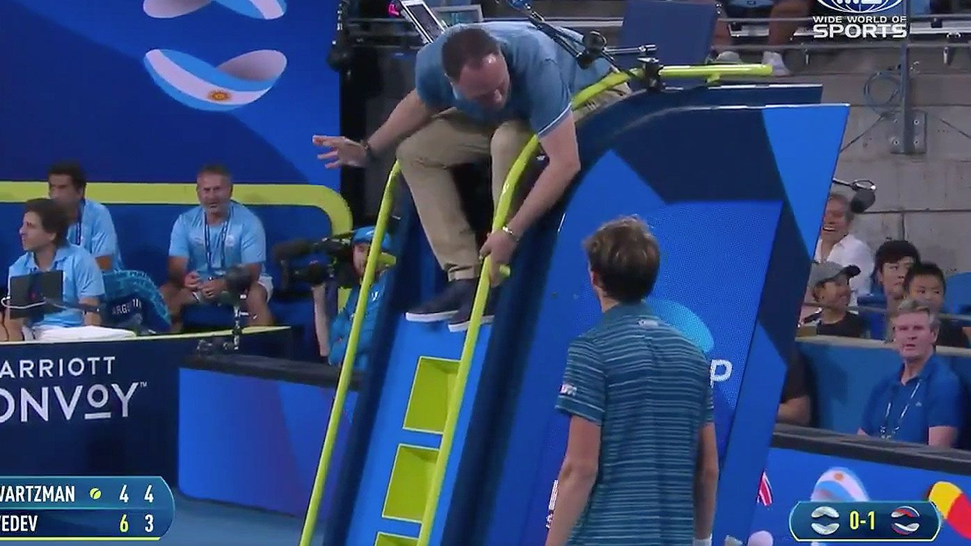 Daniil Medvedev explains shocking meltdown after hitting umpire's chair in win
