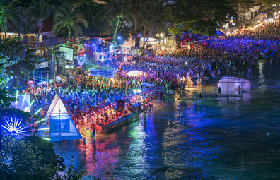 Thailand's famous full-moon party