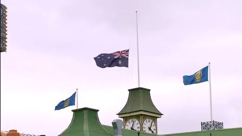 Flags at the SCG are flying at half-mast following news of his death. (9NEWS)