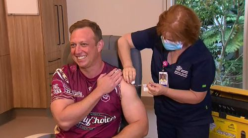 Receiving the Pfizer vaccine alongside Deputy Premier Steven Miles and Sport's Minister Stirling Hinchcliffe, Premier Palaszczuk stated she would've received AstraZeneca if she didn't have potential Olympic travel commitments.