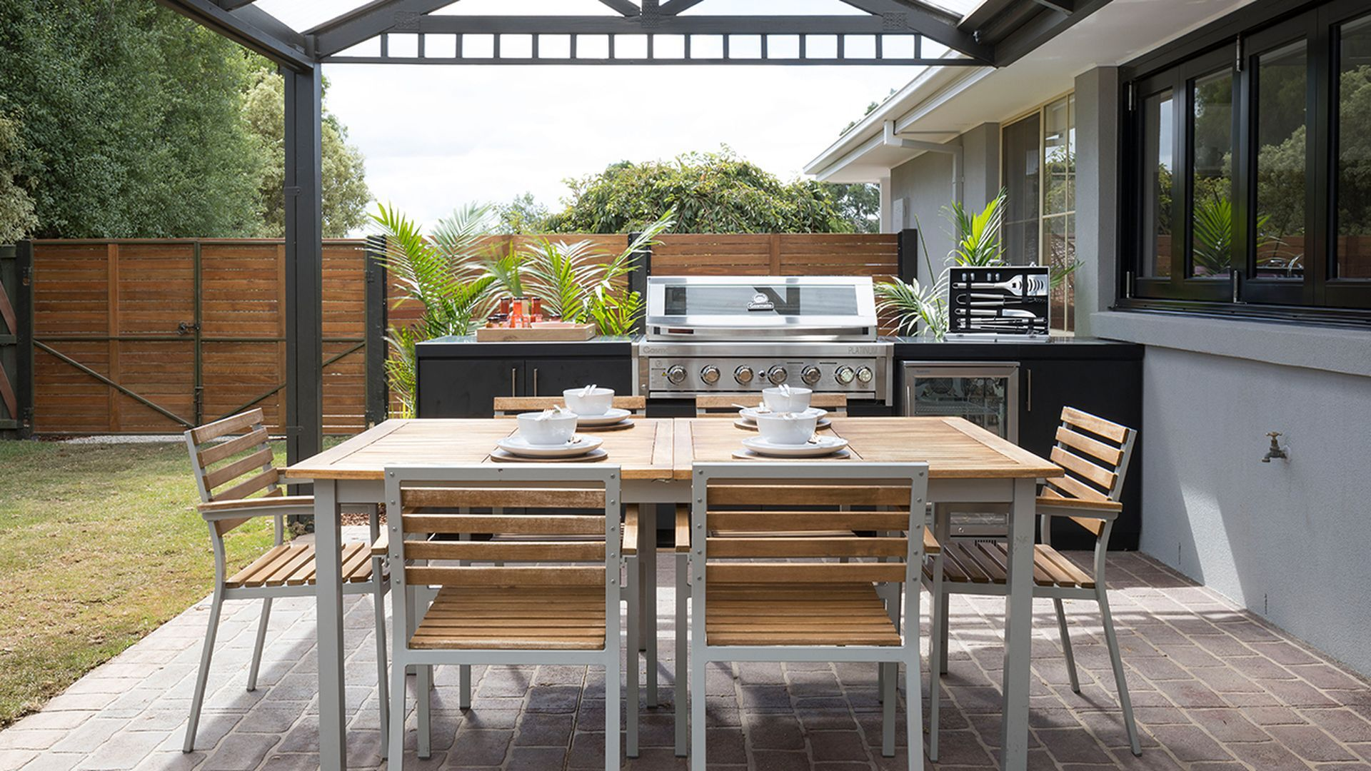 After - outdoor dining