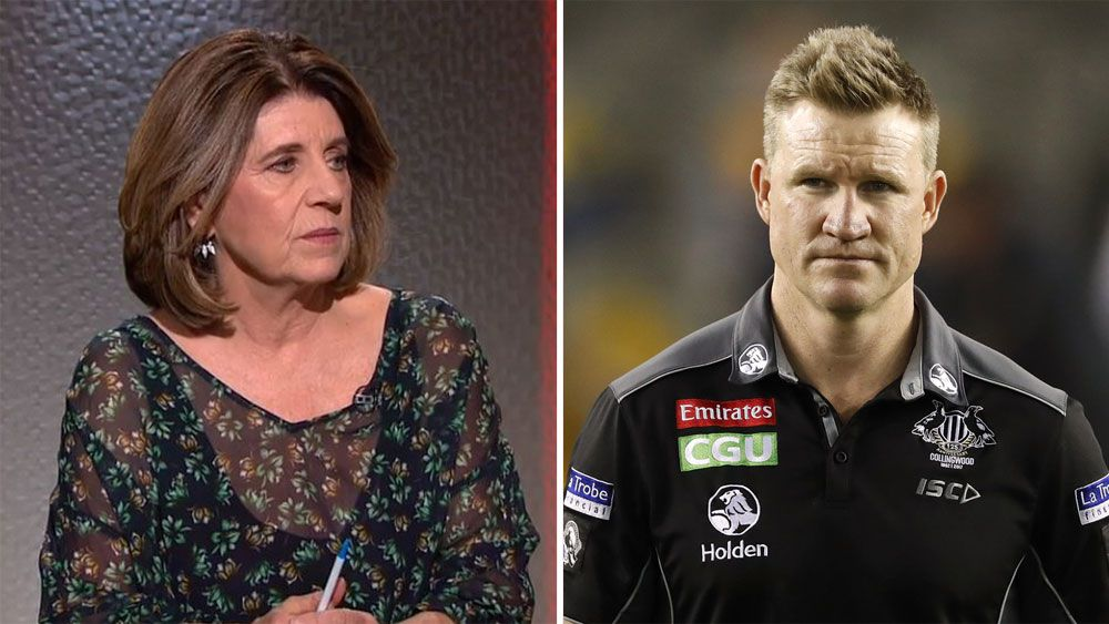 Caroline Wilson and Nathan Buckley.