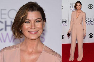 Not so grey now, <i>Greys Anatomy</i> star Ellen Pompeo rocks this risky pantsuit.