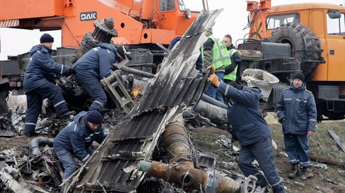The debris will be transported from the Ukrainian city of Kharkiv.