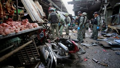 Three dead, 18 injured after motorbike bomb explodes at market