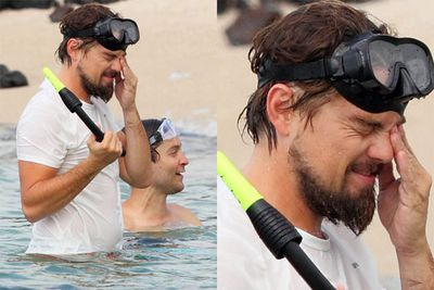 Leonardo DiCaprio snorkelled with his buddy Tobey Maguire on holiday in Hawaii.