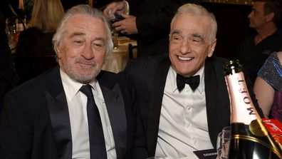 Robert De Niro and Martin Scorsese attend the 77th Annual Golden Globe Awards at The Beverly Hilton Hotel on January 05, 2020 in Beverly Hills, California.