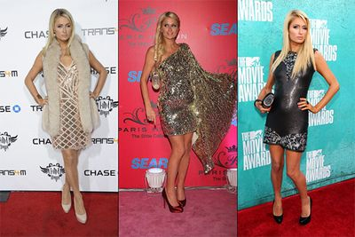 There seems to be a running theme in Paris Hilton's wardrobe — more sequins equal more style. Unfortunately for the American heiress, the mantra doesn't seem to have ever served her well, with her many red carpet appearances failing to impress.