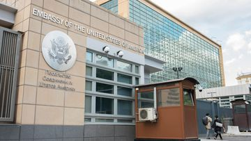 A Russian spy was employed for more than a decade at the US Embassy in Moscow before being fired last year, a senior administration official tells CNN (Sergei Petrov/Getty Images)