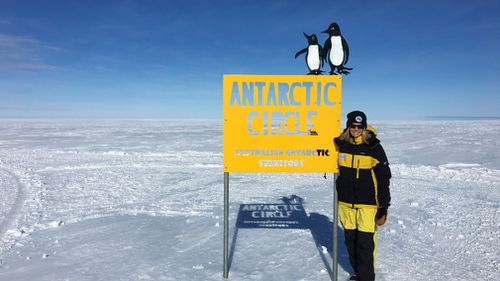 The trip involved a stopover at the Antarctic Circle. (9NEWS)