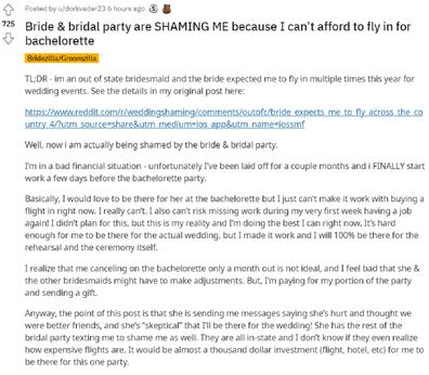 Bridesmaid bachelorette party
