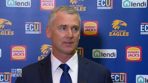 Eagles coach Adam Simpson