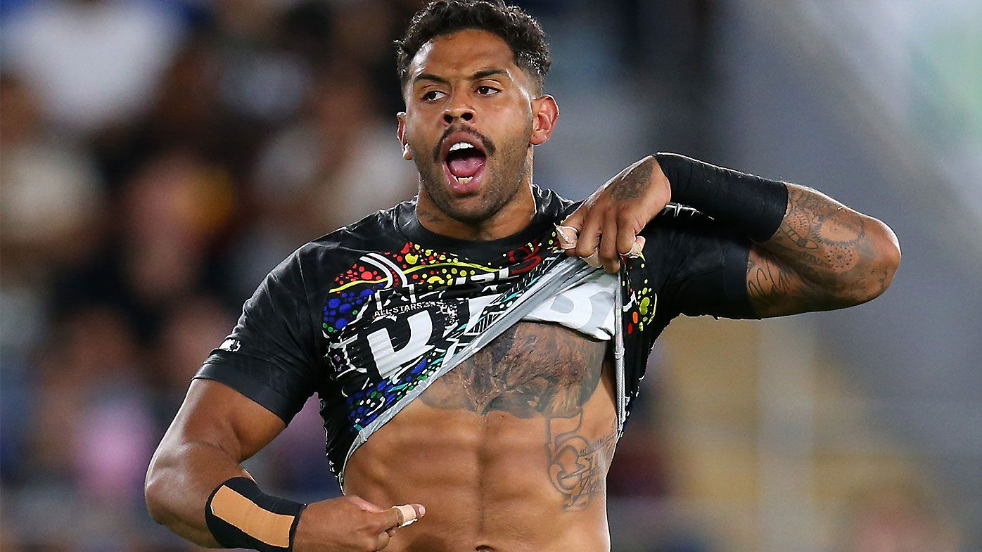 Josh Addo-Carr recreates iconic Nicky Winmar image in NRL All-Stars clash