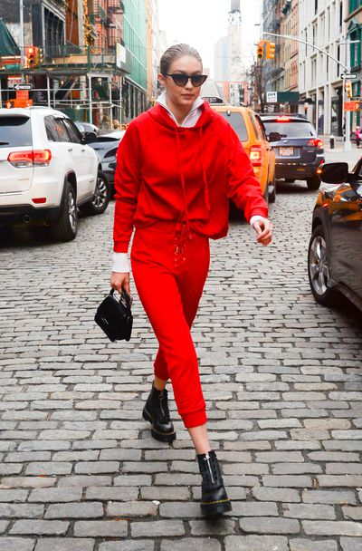 Supermodel Gigi Hadid is in New York on January 30, 2018
