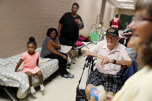 Residents are anxiously waiting for the storm to approach.
