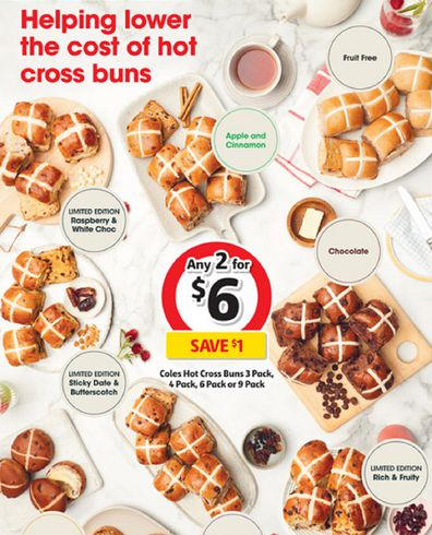Hot cross buns are on special this week at Coles and other grocery retailers.