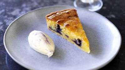 "Recipe: <a href=""http://kitchen.nine.com.au/2017/09/15/15/48/chiswicks-spring-blueberry-tart"" target=""_top"" draggable=""false"">Chiswick's spring blueberry tart recipe</a>"