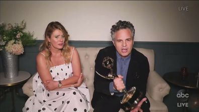 Mark Ruffalo wins outstanding lead actor in a limited series or movie at the Emmys.