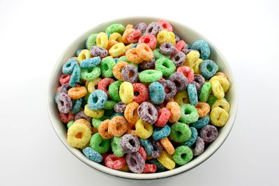 <strong>Froot Loops and juice (33 grams of sugar)</strong>