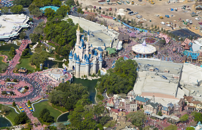 Disney World Magic Kingdom bird's eye view