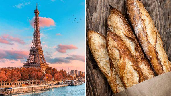 Eiffel Tower / Baguette bread stick