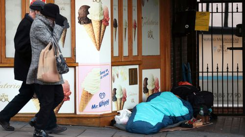 Homelessness isn't an unusual sight in Britain. (AAP)