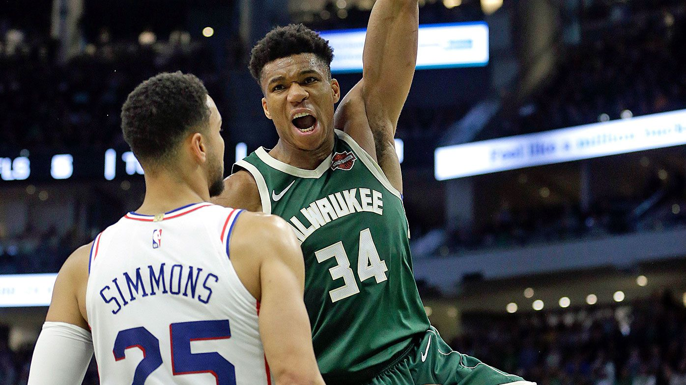 Ben Simmons and Giannis Antetokounmpo dunk on each other as Philadelphia 76ers down Milwaukee Bucks to clinch play-off spot