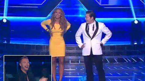 Guy Sebastian jokes about Mel B dancing 'Gangnam Style' commando