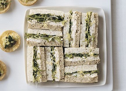 Roast chicken, lemon and green olive sandwiches