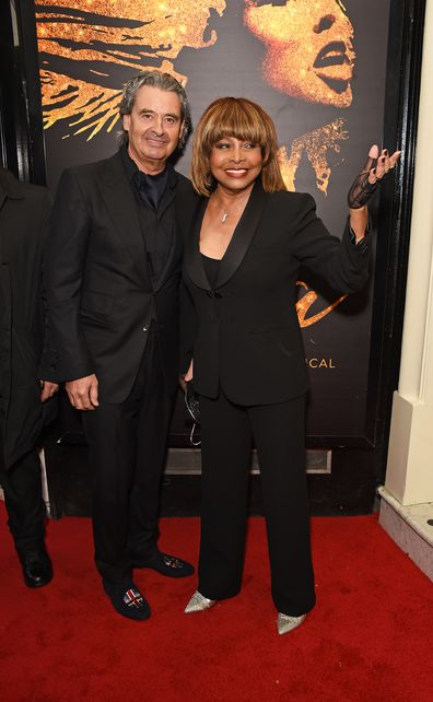 "Tina Turner arrives at the press night performance of ""Tina: The Tina Turner Musical"" at the Aldwych Theatre on April 17, 2018 in London, England."