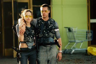 Brad Pitt and Angelina Jolie on Mr and Mrs Smith.