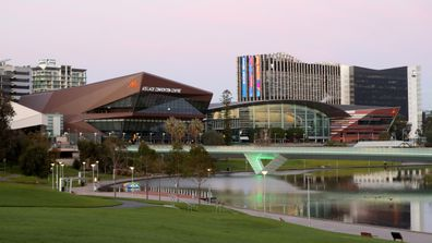 The usually popular Adelaide river bank precinct.