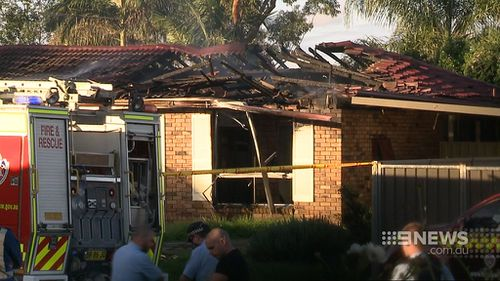 The explosion and subsequent fire blew out windows and caused the roof to collapse. (9NEWS)