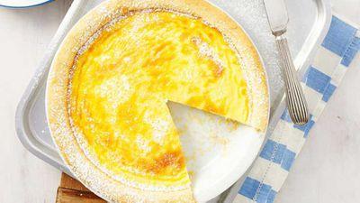 """Click through for our&nbsp;<a href=""""http://kitchen.nine.com.au/2016/05/16/11/26/custard-tart"""" target=""""_top"""">Custard tart</a>"""