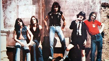 Bon Scott (centre) with AC/DC in their mid '70s heyday.