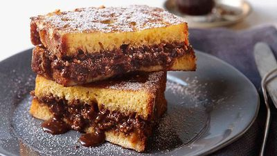 """Recipe:<a href=""""http://kitchen.nine.com.au/2016/05/16/17/03/chocolate-french-toast"""" target=""""_top"""" draggable=""""false"""">Chocolate French toast</a>"""