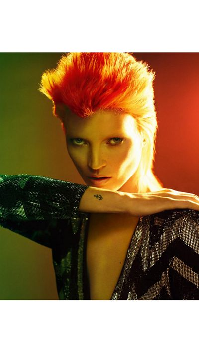 "A day after sending birthday wishes, French <em>Vogue </em>posted this Bowie homage from its December 2011 issue, captioned; ""Today, we marks the loss of one of the most influential figures in contemporary culture, after more than 40 years of experimentation, reinvention and innovation. We pay tribute to David Bowie, a musical genius and cultural icon."""