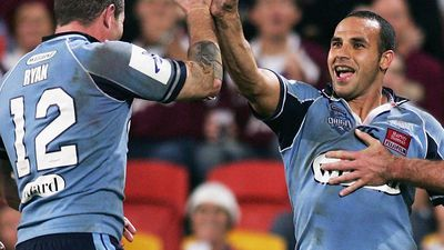 Hazem El-Masri during his only State of Origin match, at Suncorp Stadium in 2007.